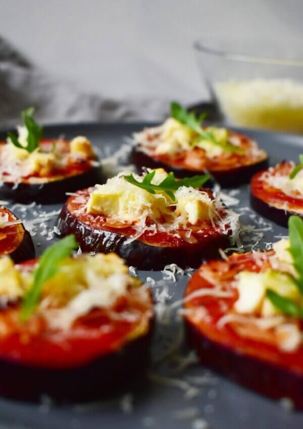 Padlizsán mini pizzák