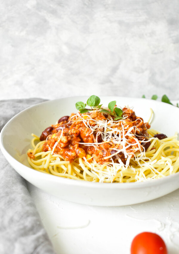 Babos-kukoricás bolognai spagetti